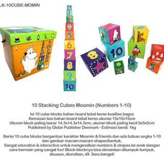 10 Stacking Cubes Moomin (Numbers 1-10)