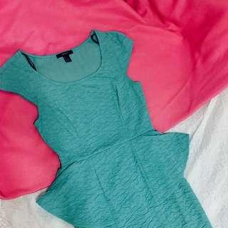 F21 Sea Green Dress