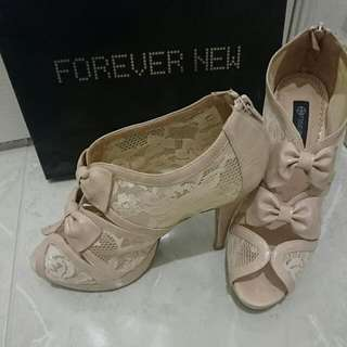 Lace Triple Bow Forever New Pretty Shoes