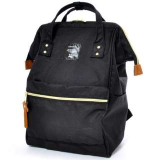 100% Authentic Black Anello Backpack (Large size) - Japan