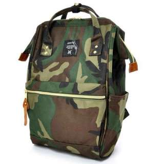 100% Authentic Camo Anello Backpack (Large size) - Japan