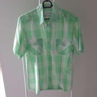 Top Man Shirt Green