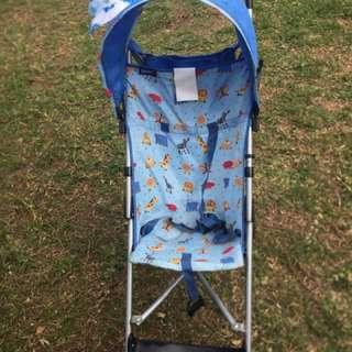 Blue Stroller + Baby Hat