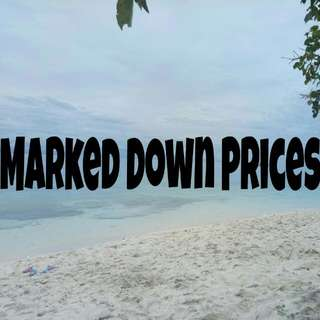 Marked Down Prices