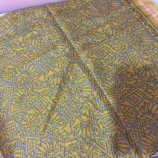 Yellow Square Scarf/ Bawal