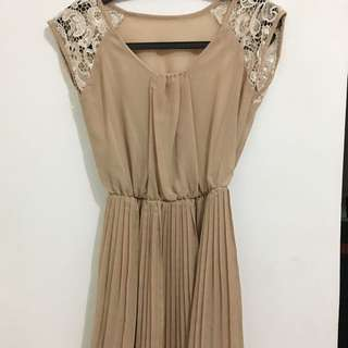 Nude Baby Doll Top