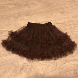 咖啡色二手baby紗裙,雙層雪紗,超好看,紗質軟