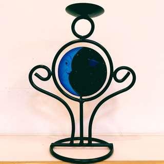 雙面日月造型燭台
