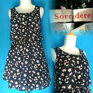 Sorridere Flowery Navy Dress