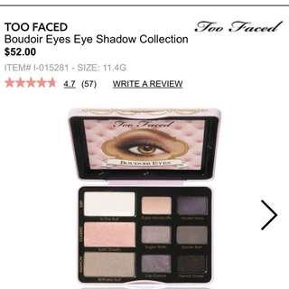 Brand New Too Faced Boudoir Eyes Palette