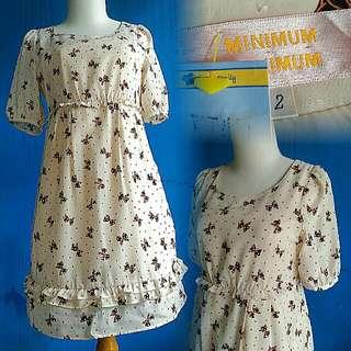 Minimum Ribbon Pattern Dress