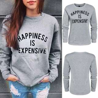 """FREE POSTAGE """"Happiness Is Expensive"""" Jumper"""