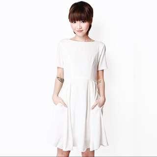 AFA Hailey Swing Dress In White