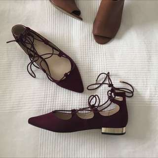 Forever New Faux Suede Flats Size 38