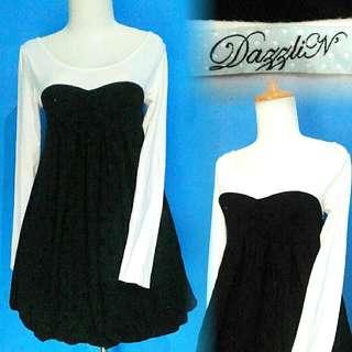 Dazzlin Black & White Dress