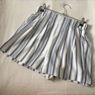 Forever New Striped Shorts Size 8
