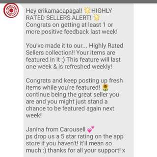 Highly rated seller 💕