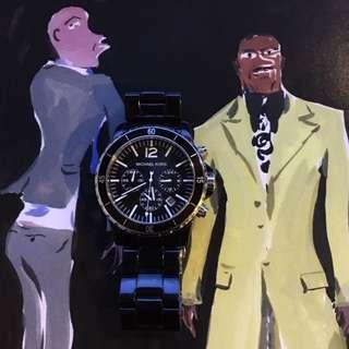 Michael Kors Men's Black Madison Chronograph Watch