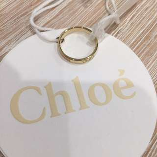Chloe 'Holly' Skinny Ring 50mm - Gold And Peach Pink Enamel