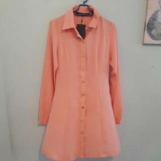 Aere Ostria Classic Longline Dress Shirt
