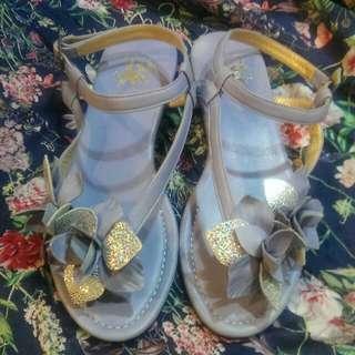 紫色訂制小羊皮涼鞋
