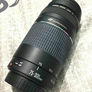 Canon 75-300 F/4-5.6 Zoom Lens With Lens Hood