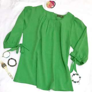 Green Blouse by Pink Emma