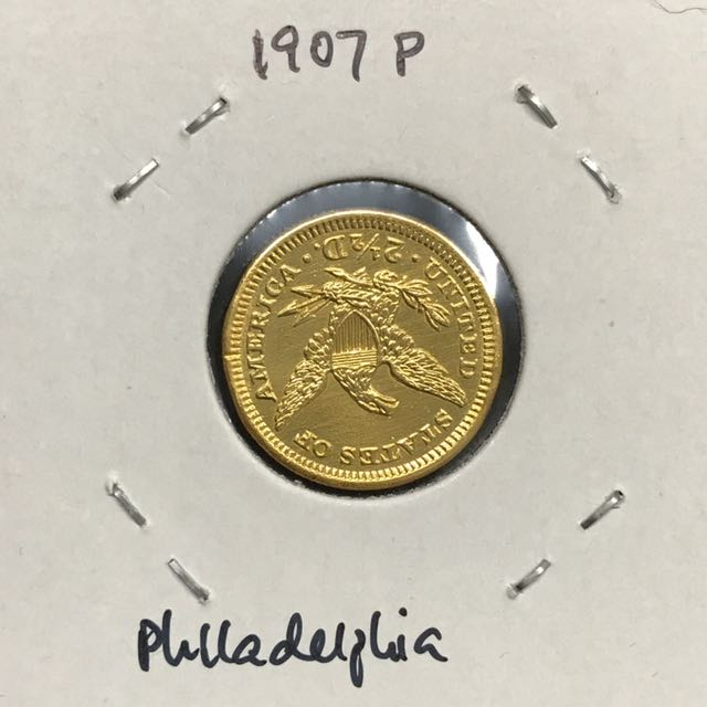 1907 Liberty 25 Dollar Gold Coin Vintage Collectibles Currency