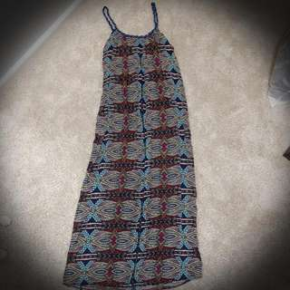 Seed size 6 multicolored maxi dress