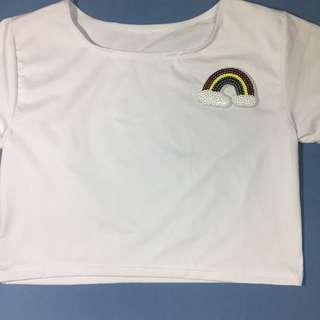 White Midrib w/ Rainbow Patch