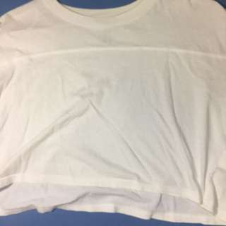 H&M white cropped top