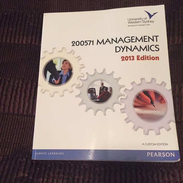 200571 Management Dynamics 2013 Edition
