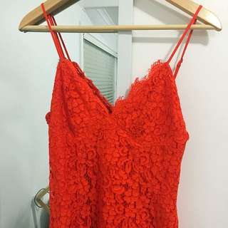 Red Lace Dress Fitted