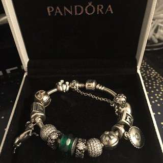 Authentic Pandora Bracelet With Beautiful Charms