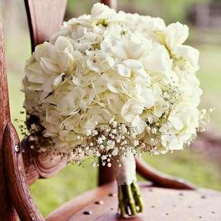 White Hydrangeas Bouquet - Whhydbuet