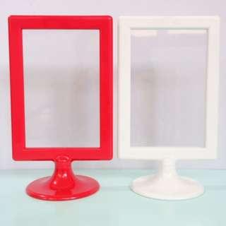 "SET: Ikea 4"" x 6"" Desk Frames (White & Red)"
