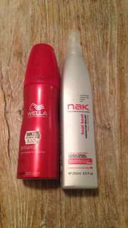 Wella Styling Mousse & Nak Leave In Thermal Protection