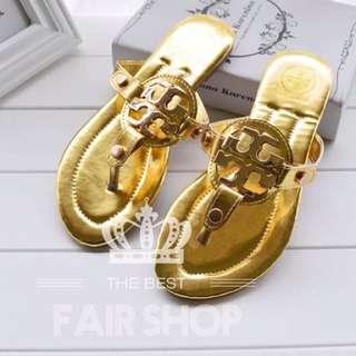 「熱銷🔥歐美風」歐美TB款鏤空平底涼鞋👟