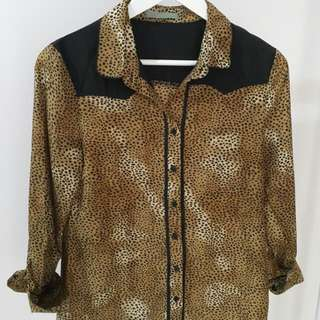 LEAF Leopard Blouse