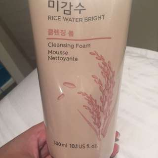 NEW! The Face Shop Rice Water Bright Cleansing Foam