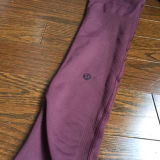 Lululemon High Waisted Maroon Leggings