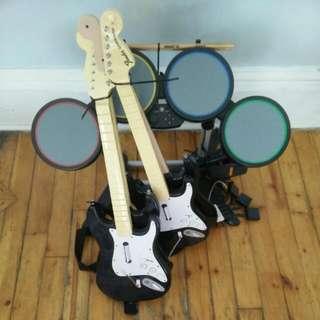 Guitar Hero / Rockband set + all games!