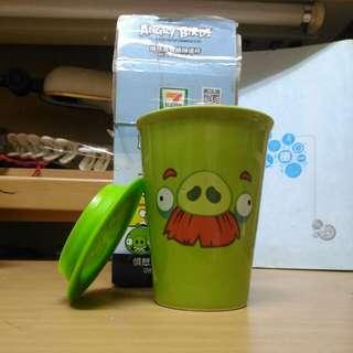 憤怒鳥雙層陶瓷杯(附立體造型杯蓋)