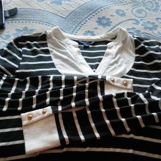 Tommy Hilfiger Black Stripe Top Xs Size