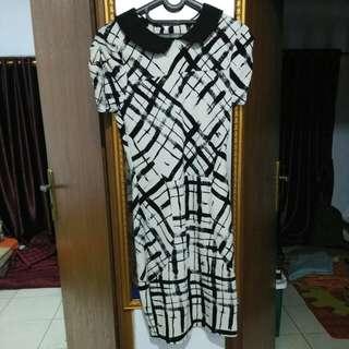 dress middle selutut free ongkir