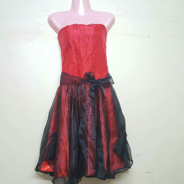 2 For 250 Red Black Cocktail Dress