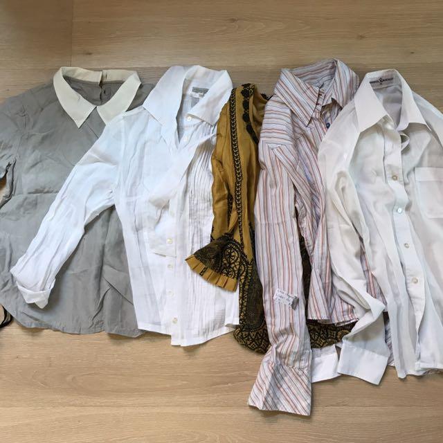 5 Designer Business Shirts/Blouses