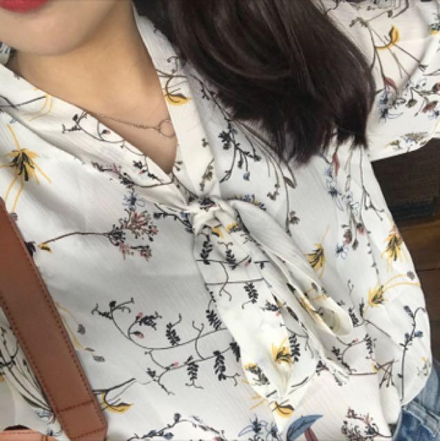 韓系雪紡上衣