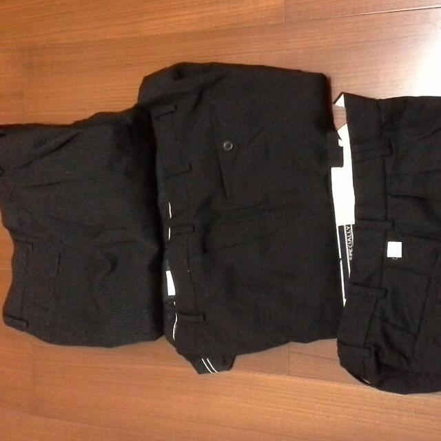 黑色西裝褲子 大約30~33腰 有3件