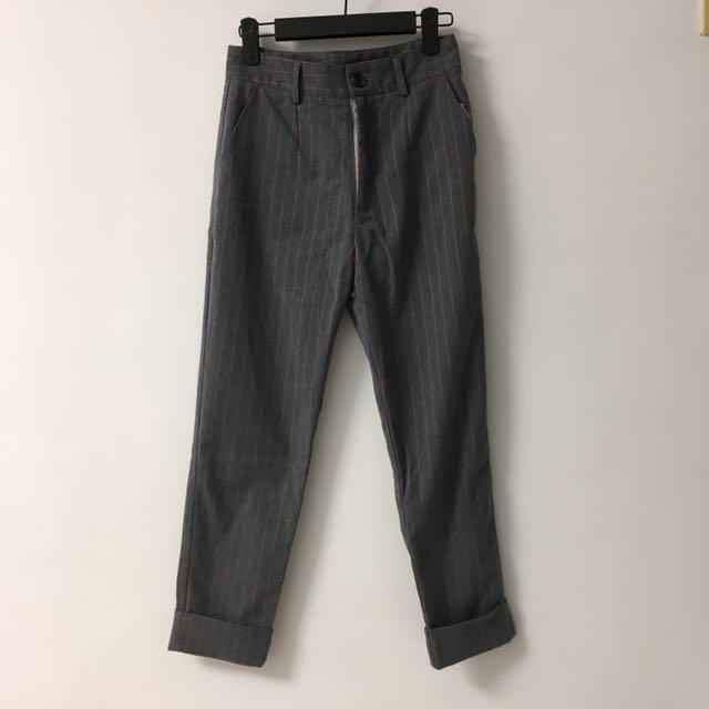 *韓國時尚* 率性8分彈性西裝褲 90%new